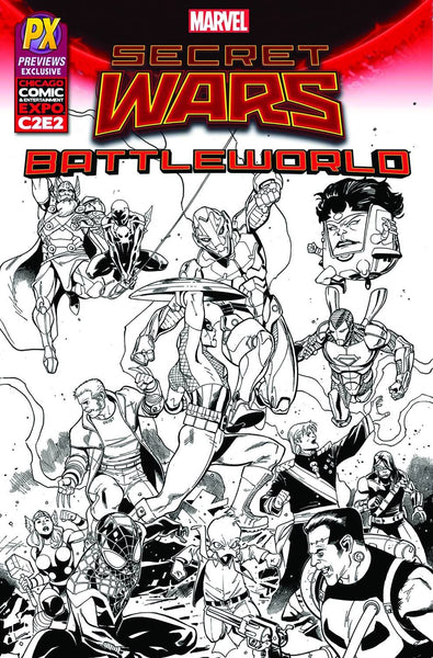 SECRET WARS BATTLEWORLD #1 MEDINA C2E2 PX INKED VAR