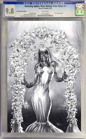 AMAZING SPIDER-MAN RENEW YOUR VOWS #3 MIKE DEODATO CGC ( B&W )