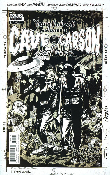 CAVE CARSON HAS A CYBERNETIC EYE #3 COVER B RENTLER VARIANT