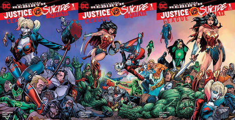 JUSTICE LEAGUE VS SUICIDE SQUAD #1 SG BART SEARS 3 PACK VARIANT