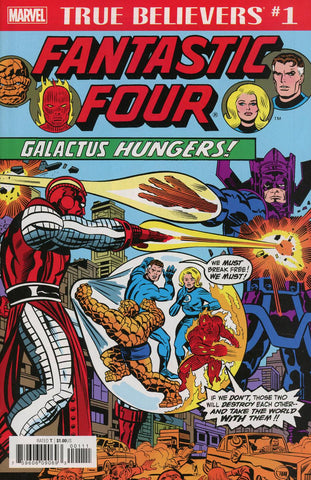 TRUE BELIEVERS FANTASTIC FOUR GALACTUS HUNGERS #1