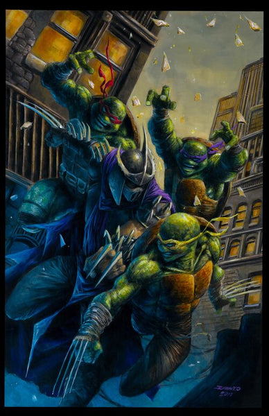 TEENAGE MUTANT NINJA TURTLES TMNT ONGOING #100 JOHNNY DESJARDINS VIRGIN EXCLUSIVE