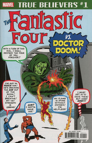 TRUE BELIEVERS FANTASTIC FOUR VS DOCTOR DOOM #1