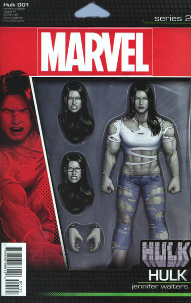 HULK #1 VOL 4 COVER B ACTION FIGURE VARIANT