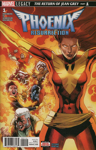 PHOENIX RESURRECTION RETURN JEAN GREY #1 (OF 5) 2ND PTG VAR