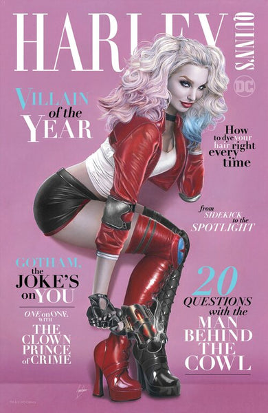 HARLEY QUINN VILLAIN OF THE YEAR #1 NATALIE SANDERS EXCLUSIVE