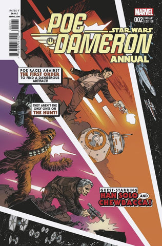 STAR WARS POE DAMERON ANNUAL #2 SHALVEY VAR