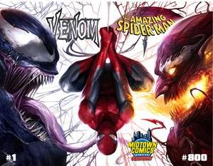 VENOM #1 & AMAZING SPIDER-MAN #800 MATTINA EXCLUSIVE CONNECTING COVER SET