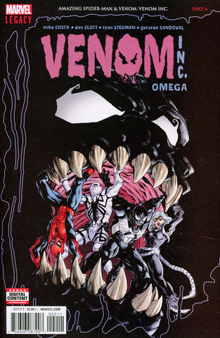 AMAZING SPIDER-MAN VENOM INC OMEGA #1 LEG