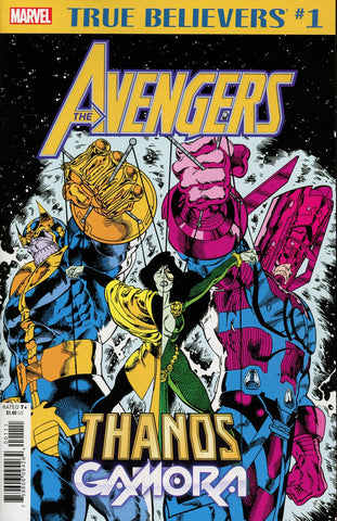 TRUE BELIEVERS AVENGERS THANOS AND GAMORA #1