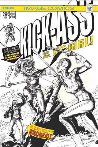 KICK-ASS #1 BTC  MIKE ROOTH B&W EXCLUSIVE