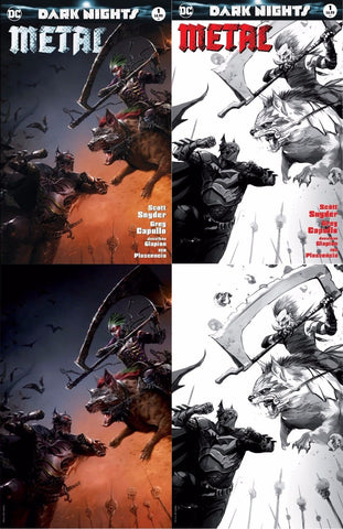 DARK NIGHTS METAL #1 (OF 6) EXCLUSIVE FRANCESCO MATTINA 4 PACK