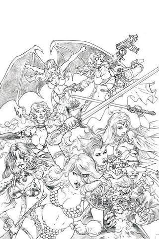 RED SONJA AGE OF CHAOS #1 QUAH SKETCH VIRGIN INCV