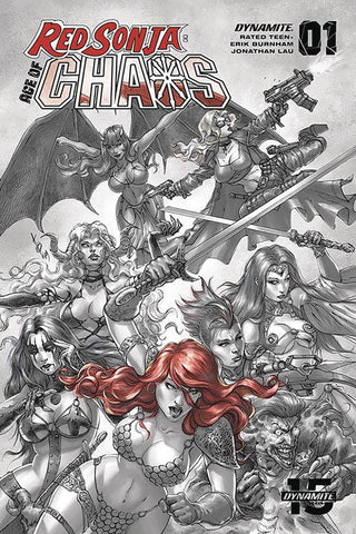RED SONJA AGE OF CHAOS #1 QUAH HELL RED INCV
