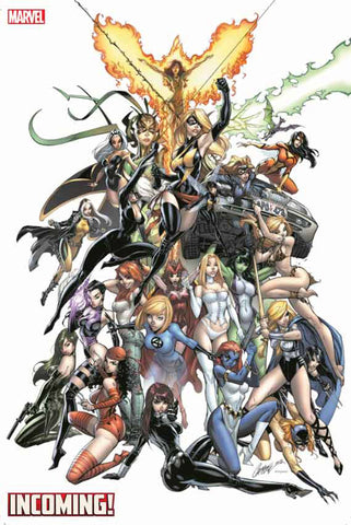 INCOMING #1 J SCOTT CAMPBELL WOMEN OF MARVEL GEM VAR