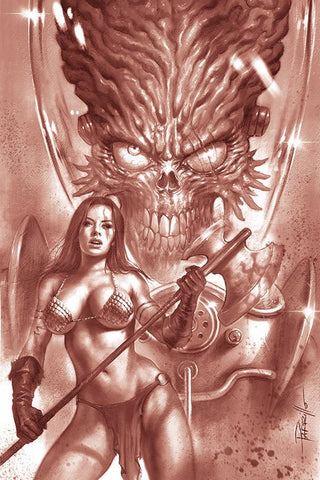 MARS ATTACKS RED SONJA #1 PARRILLO TINT VIRGIN INCV