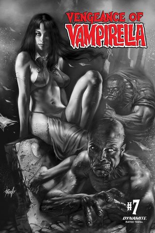 VENGEANCE OF VAMPIRELLA #7 PARRILLO B&W INCV