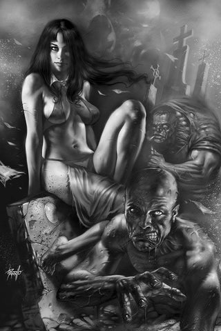 VENGEANCE OF VAMPIRELLA #7 PARRILLO B&W VIRGIN