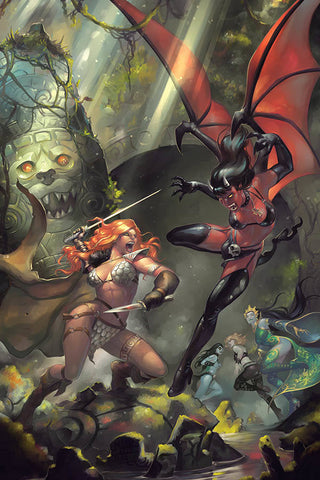 RED SONJA AGE OF CHAOS #1 HETRICK VIRGIN FOC INCV