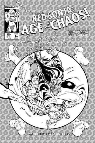 RED SONJA AGE OF CHAOS #1 TORMEY B&W INCV