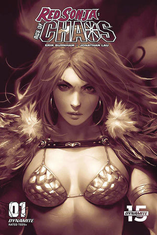 RED SONJA AGE OF CHAOS #1 DERRICK CHEW MONOCHROMATIC INCV