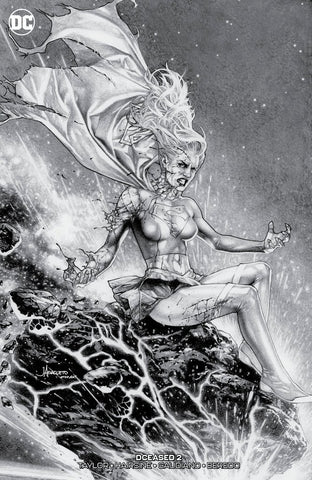 DCEASED #2 (OF 6) UNKNOWN JAY ANACLETO B&W EXCLUSIVE