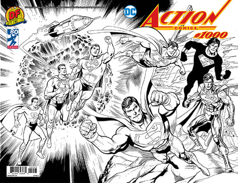 ACTION COMICS #1000 DF DAN JURGENS B&W EXCLUSIVE