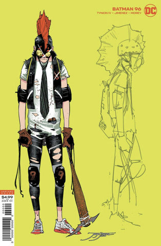 BATMAN #96 JORGE JIMENEZ DESIGN CLOWNHUNTER DESIGN VAR