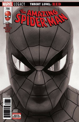 AMAZING SPIDER-MAN #796 ALEX ROSS B & W 3RD PTG VAR