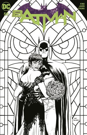 BATMAN #50 NICK DERINGTON B&W EXCLUSIVE