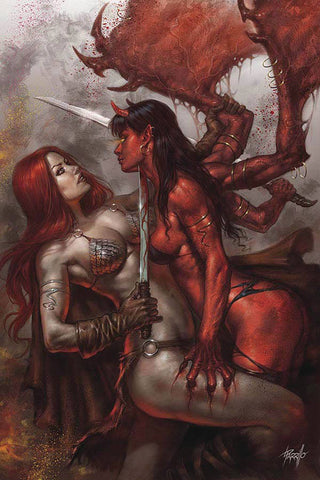 RED SONJA AGE OF CHAOS #1 PARRILLO LTD VIRGIN CVR