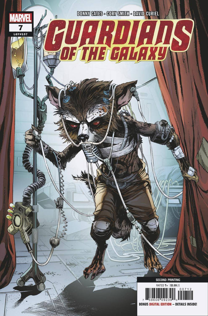 GUARDIANS OF THE GALAXY #7 CORY SMITH 2nd PRINT VARIANT 2019 MARVEL 8//28//19