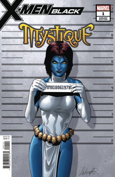 X-MEN BLACK MYSTIQUE #1 LARROCA MUGSHOT VAR