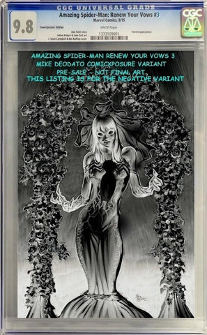 AMAZING SPIDER-MAN RENEW YOUR VOWS #3 MIKE DEODATO CGC NEGATIVE