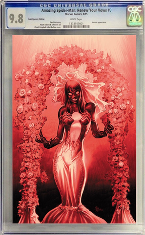 AMAZING SPIDER-MAN RENEW YOUR VOWS #3 MIKE DEODATO CGC BLOOD RED