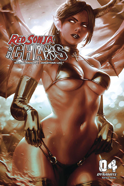 RED SONJA AGE OF CHAOS #4 DERRICK CHEW MONOCHROMATIC INCV