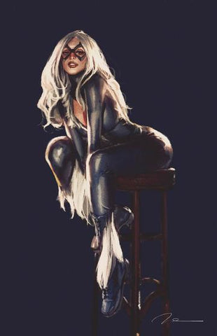 BLACK CAT #1 GERALD PAREL UNKNOWN CA VIRGIN EXCLUSIVE COVER
