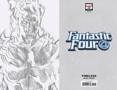 FANTASTIC FOUR #24 HUMAN TORCH TIMELESS VIRGIN SKETCH VAR