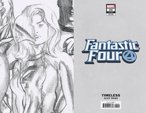 FANTASTIC FOUR #24 INVISIBLE WOMAN TIMELESS VIRGIN SKETCH VA