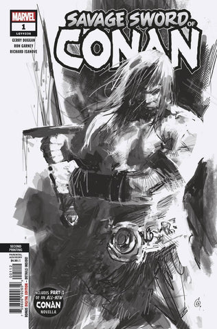 SAVAGE SWORD OF CONAN #1 2ND PTG GARNEY VAR
