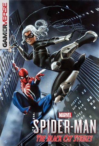 MARVELS SPIDER-MAN BLACK CAT STRIKES #1 (OF 5) GRANOV GAME VARIANT