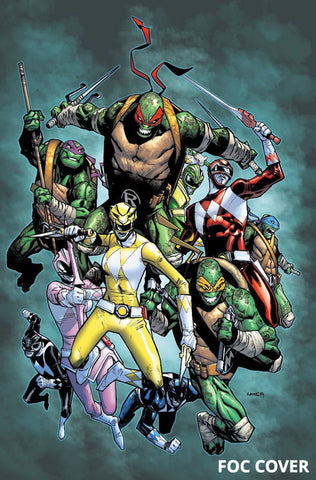 POWER RANGERS TEENAGE MUTANT NINJA TURTLES #2 FOC VAR