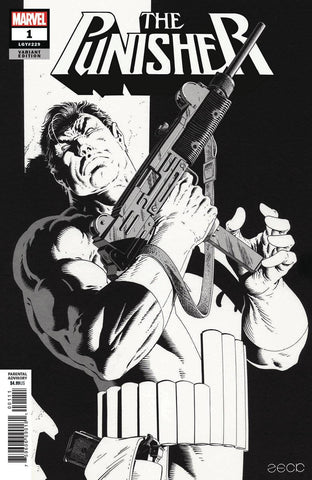 PUNISHER #1 ZECK HIDDEN GEM B & W VAR