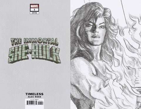 IMMORTAL SHE-HULK #1 ALEX ROSS TIMELESS VIRGIN SKETCH VAR