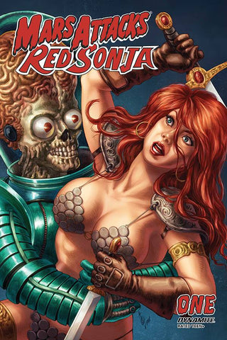MARS ATTACKS RED SONJA #1 QUAH CARD HOMAGE INCV