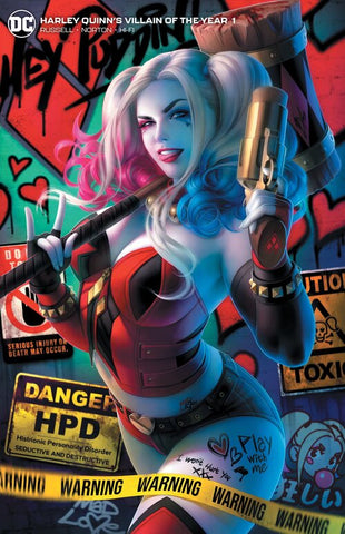 HARLEY QUINN VILLAIN OF THE YEAR #1 WARREN LOUW  2 PACK EXCLUSIVE