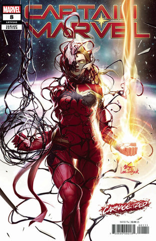 CAPTAIN MARVEL #8 INHYUK LEE CARNAGE-IZED VAR