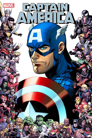CAPTAIN AMERICA #13 LUPACCHINO MARVEL 80TH FRAME VAR