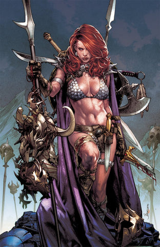 RED SONJA BIRTH OF SHE DEVIL #1 UNKNOWN JAY ANACLETO VIRGIN EXCLUSIVE