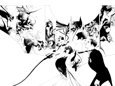 BATMAN #50 DYNAMIC FORCES BLACK AND WHITE EXCLUSIVE BY JAE LEE